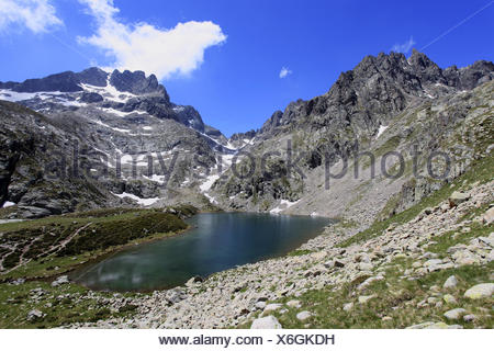 The Gordolasque valley, Mercantour national park, Alpes-Maritimes, 06, France. - Stock Photo