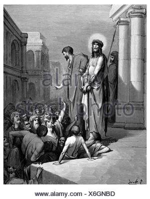 Jesus is shown to the people - Stock Photo