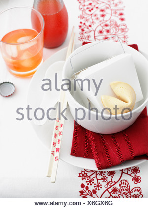Food in Chinese take out box - Stock Photo