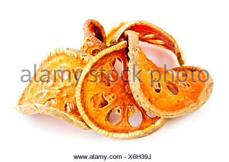 orange fruit dry dried up barren dried sliced close some several a few food - Stock Photo