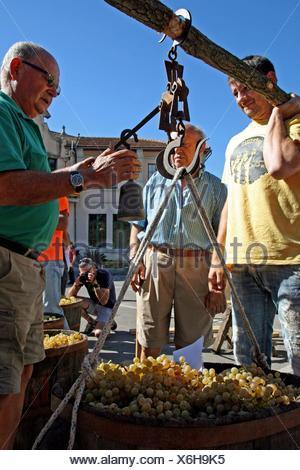 vintage celebration´12, Sant Fost de Campsentelles, Catalonia, Spain - Stock Photo