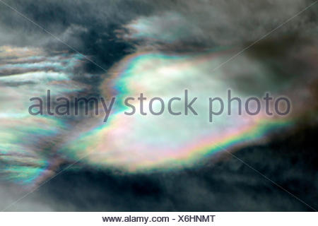 mother of pearl clouds, Norway, Nordland, Majavatnet - Stock Photo