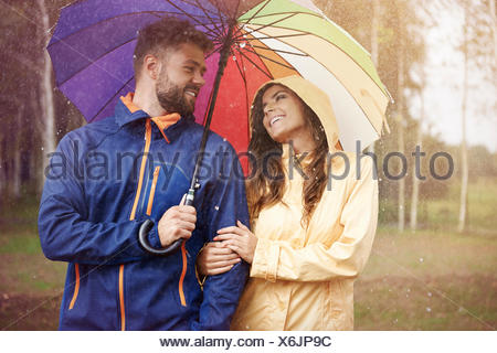 Even rainy day can be nice. Debica, Poland - Stock Photo