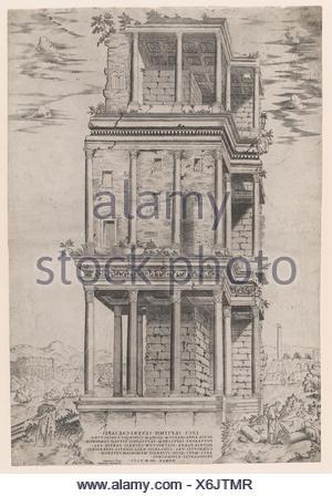 The Septizodium. Series/Portfolio: Speculum Romae Magnificentiae; Artist: Anonymous; Publisher: Antonio Lafreri (French, Orgelet, Franche-Comte ca. - Stock Photo