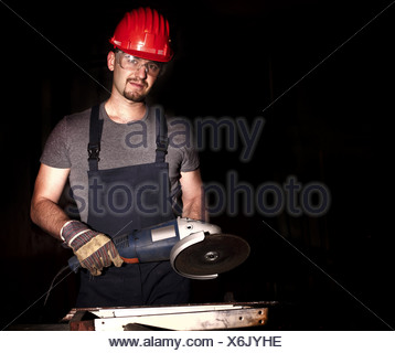 grinder in action - Stock Photo