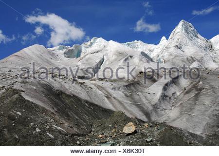 ice scenery of the Pers Gletscher (Vadret Pers), Switzerland, Graubuenden, Engadine, Bernina-Diavolezza - Stock Photo