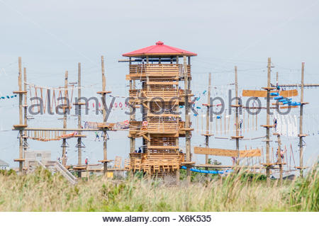 obstacle course tower - Stock Photo