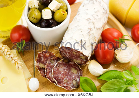 French Salami - Stock Photo