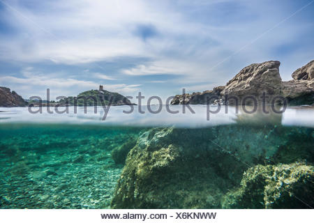 Surface level view of water surface, Chia, Sardinia, Italy - Stock Photo