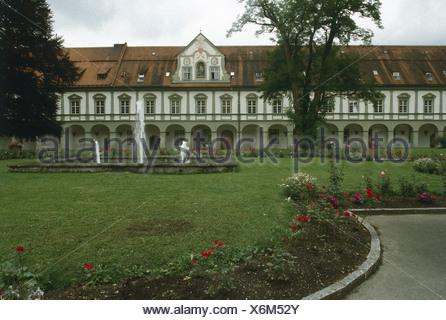 Germany, Upper Bavaria, arch abbey St Ottilien Stock Photo ...