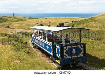 Great Orme Tramway,Llandudno,Wales,United Kingdom,Great Britain,Europe - Stock Photo