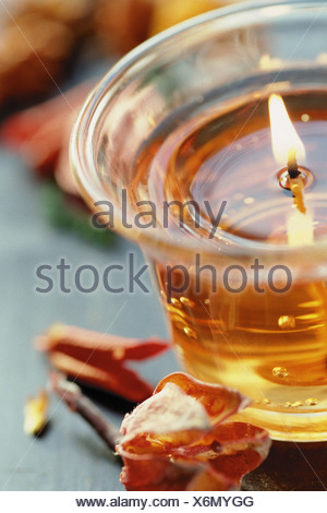 Coloured candle - Stock Photo