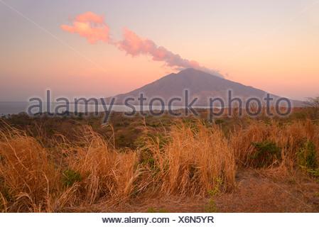 Central America, Nicaragua, Rivas, Isla Ometepe, UNESCO, Biosphere, Preserve, island, volcano, peak, maderas, Moyogalpa - Stock Photo