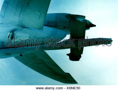 Military aircraft, Boeing C-10, US-Air-Force, flight, detail, aviation, air force, fighter aircraft, refueller, USAF, airplane, the military, - Stock Photo
