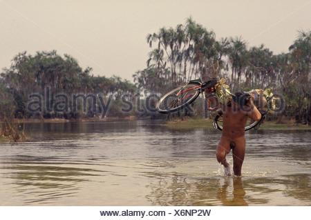 Xingu Amazon rainforest Brazil Yaulapiti Indigenous People - Stock Photo