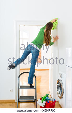 woman in spring cleaning - Stock Photo