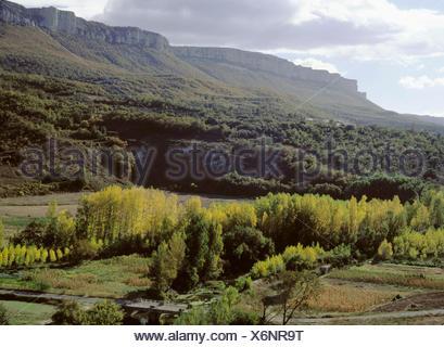 Sierra de Loquiz. Navarre. Spain - Stock Photo