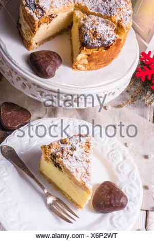 Christmas Cheesecake - Stock Photo