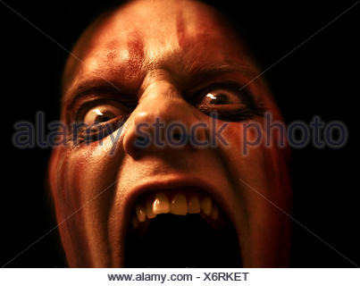 face scary halloween - Stock Photo