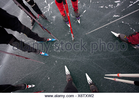 Group of Nordic skaters - Stock Photo