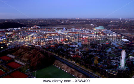 Centro and Centropark shopping centre, Oberhausen, Ruhr area, North Rhine-Westphalia - Stock Photo
