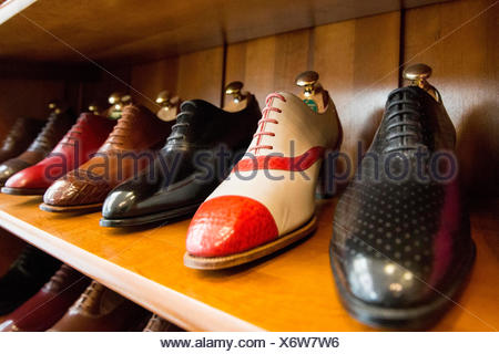 Occupational report with shoemaker Klemann Shoes - Stock Photo