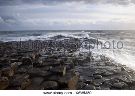 Giants Causeway, County Antrim, Northern Ireland. - Stock Photo