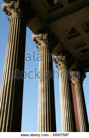 Colonnade Of National Gallery, London,England,Uk - Stock Photo