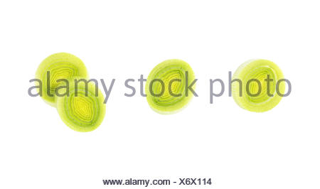 chopped fresh leek - Stock Photo