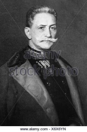 Conrad von Hoetzendorf, Count, 11.11.1852 - 25.8.1925, Austrian field marshal, chief of the general staff of the Austro-Hungarian army, half length, Additional-Rights-Clearances-NA - Stock Photo