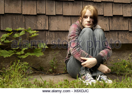 Teen runaway - Stock Photo