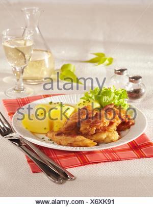 Chicken Pieces in Beer Batter - Stock Photo