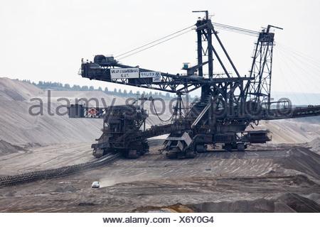 Brown coal digger, Hambach Tagebau, Rhein-Erft-Kreis, North Rhine-Westphalia, Germany - Stock Photo