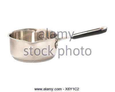 Close up image of sauce pan isolated - Stock Photo