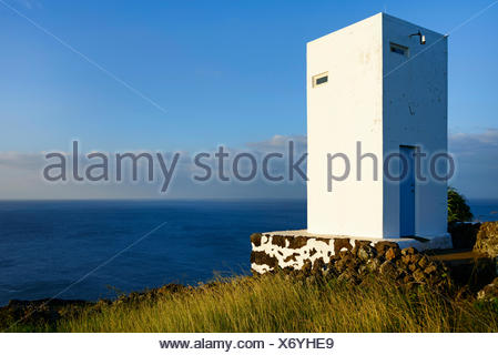 whale watch tower, Lajes do Pico, Pico, Azoren, Portugal / Ponta da Queimada, Portugal, Azores - Stock Photo