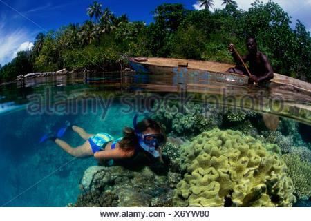 Mushroom Island  Munda  Solomon Islands - Stock Photo