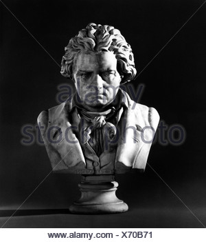 Beethoven, Ludwig van, 17.12.1770 - 26.3.1827, German composer, portrait, bust, Additional-Rights-Clearances-NA - Stock Photo