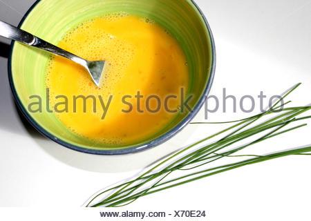 Rührei Zubereitung - Stock Photo