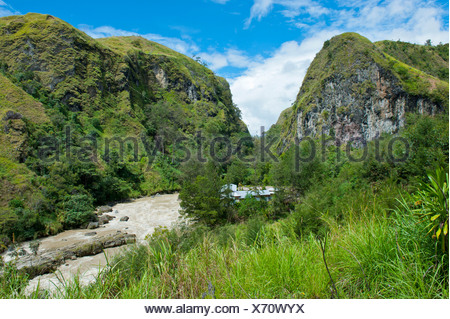 Lae River in the highlands, Papua New Guinea - Stock Photo