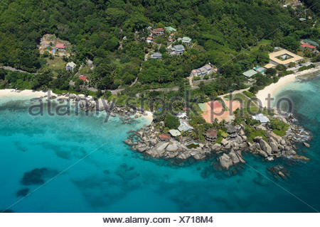 Aerial, Mahe, Seychelles, Africa, - Stock Photo