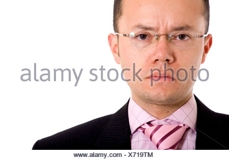 angry business man portrait - Stock Photo
