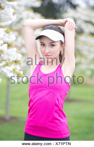 Portrait Of A Teenage Girl Wearing A Sports Top And Shorts