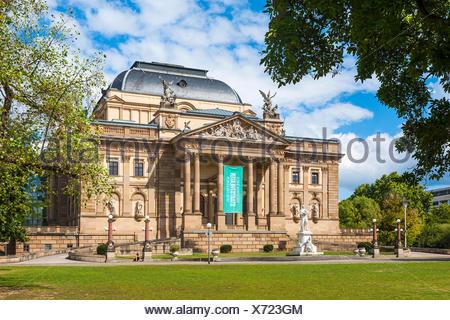 Wiesbaden, Hessen, Germany :  Hessisches Staatstheater Wiesbaden   Deutschland - Stock Photo
