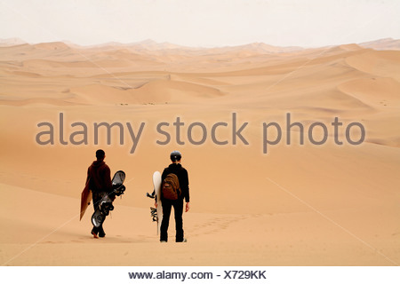 Namibia Africa Swakopmund Summer 2007 Africa Sandboarding Surfing Sand sand dune dunes desert sandy sports - Stock Photo