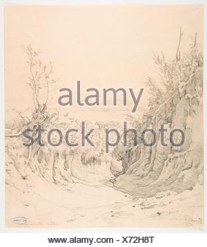 A view of Pozzuoli, seen from the Northeast. Artist: Robert Kummer (German, Dresden 1810-1889 Dresden); Date: early 19th-late 19th century; Medium: - Stock Photo