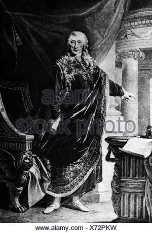 Kaunitz, Wenzel Anton Graf von, 2.2.1711 - 27.6.1794, Austrian politician, chancellor of Austria, full length, wearing Toison robe, , Additional-Rights-Clearances-NA - Stock Photo