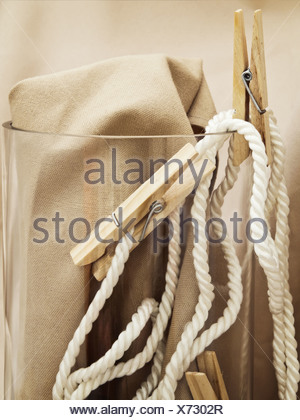 pins and rope - Stock Photo