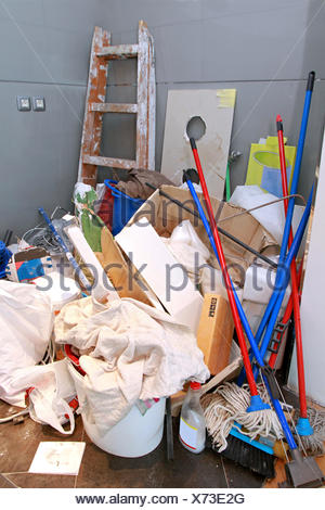 Cleaning mess - Stock Photo