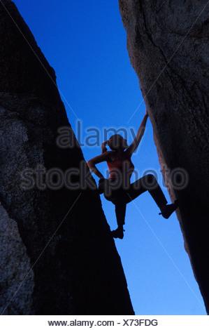 Rock Climber Buttermilks California - Stock Photo