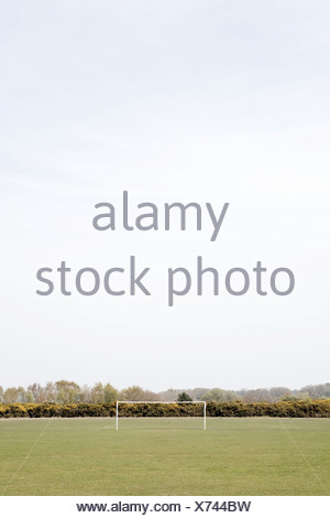 Goalpost in field - Stock Photo